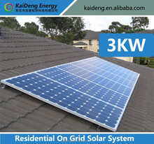 Residential 3KW Solar System For Home With Independent Energy Supply,Cheap price 3 kw solar system for home