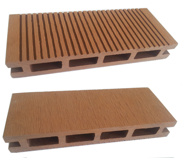 Wood Plastic Composite Decking : Terrace flooring original wood color deck walkway decking