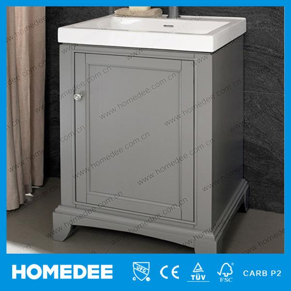 Double Sink Modern Solid Wood Bathroom Vanity Cabinet