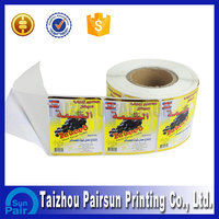 Custom eco-friendly adhesive a4 size sticker paper price