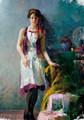alta qualidade artesanal de belas mulheres nuas pintura