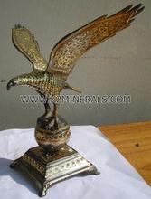 Eagle animal antique brass sculpture cooper handicraft artwork gift decoration collection souvenir