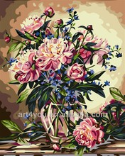 Flower diy painting