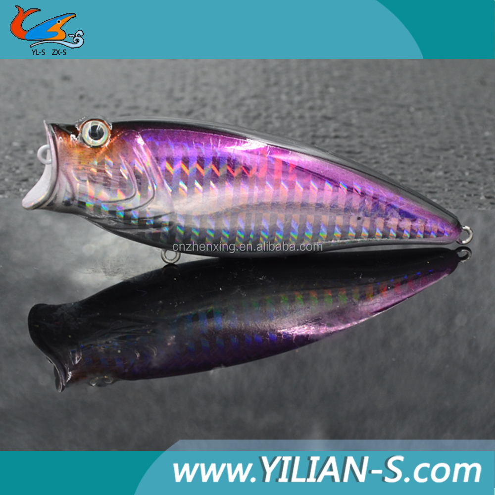 Hot sale popper lures 91mm hard body lure fishing for Fishing bait launcher