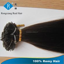 Real Hair 100% Human Hair Keratin remy fusion hair extensions