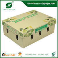 Corrugated Paper Fruit Grape Packaging Box With Print On The Top