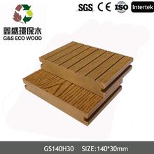 WPC solid wood plastic composite decks for outdoor/outdoor waterproof wooden flooring