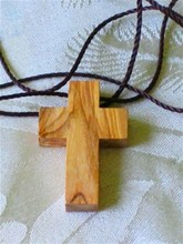 wholesale bulk orders small olive wood cross necklace