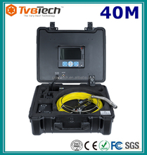 Tvbtech Push rod sewer pipe inspection borescope with text writer,meter counter with 1/3'' Sony CCD camera