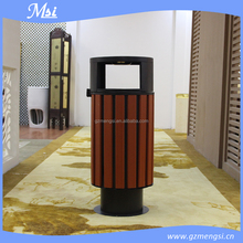 Outdoor recycle wooden waste bin