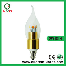 e14 led candle bulb 5w Nature white 4000K with factory cost price
