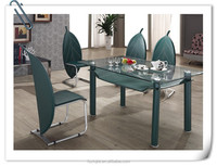 L820B Industrial Loose style dining table fiberglass dining table set