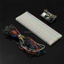 3.3V/5V MB102 Breadboard power module+MB-102 830 points Solderless Prototype Bread board kit +65 jumper wires