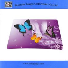 Beautiful design anti-slip thin mat/butterfly computer mat