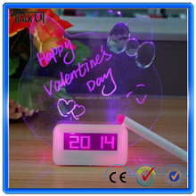 Funny clock with message board/clock with message board/calendar desk clock