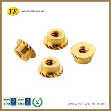 Turning Machining Brass Insert Nut Plastic Knurled Through Hole Nut For Laptop, Cellphone