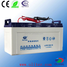 ISO CE ROHS TLC Certificate agm vrla battery 12v 100ah for solar light system