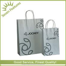 Silver women's paper shopping tote bag for lady/beautiful women