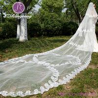 Suzhou factory womens short white net wedding accessories veils 2 layers