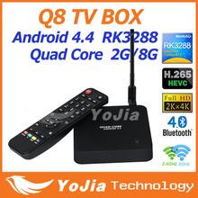 Q8 Rockchip RK3288 Android 4.4 Quad Core 2GB RAM 8GB ROM Android TV BOX 2.4G/5GHz Dual Band wifi HD MI H.265 Media Playe