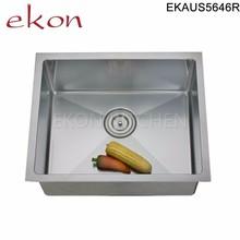 Single Bowl Premium 304 18 gauge Handmade Stainless Steel Undermount Sink