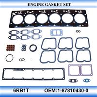 For 6RB1T engine gasket set full set engine gasket kit OEM1-87810430-0