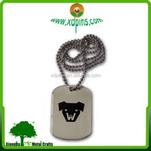 China wholesale custom metal army dog tag