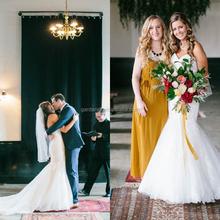 New Stylish Sweetheart NecklineLace Applique Wedding Gowns Mermaid Sweep Train Organza Backless Bridal Wear 2012 (MAW0102)