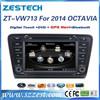 ZESTECH OEM 7 inch 2 Din Car dvd gps for VW 2014 skoda OCTAVIA DVD GPS Navigation with Bluetooth 3G AM/FM Radio A8 chipset