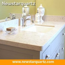 Quartz stone commercial bathroom sink countertop
