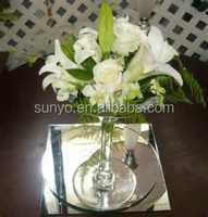Handmade Clear Glass Tall Martini Vase