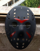 Wholesale hard plastic Black Jason Hockey mask with red scar 100g