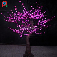 Pink color artificial led cherry blossom tree light