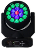 Hot selling 19leds 12W hawkeye 18CH RGBW 4in1 high power led stage light sharpy beam LED moving head light