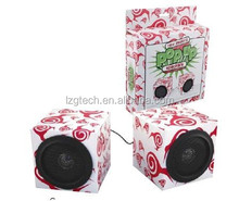 Paper foldable speaker, Foldable Promotional Eco Speakers,promotion product/foldable speaker made of paper