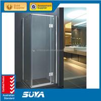 Double roller sliding shower door for shower room