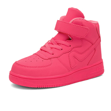 2016 nuevo estilo de la PU alto top zapatos corrientes del aire para los niños