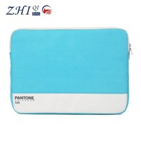 Wholesale hard wearing 17 inch waterproof laptop bag leather protective case with zipper for notebook