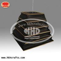 Bamboo black paper lampshade