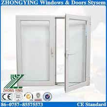 60mm casement type insulation pvc arch window