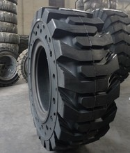 High quality Solid skid steer loader tires SKS tire with hole on sidewall 10-16.5 12-16.5