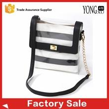 stylish factory design ladies pvc messenger woman shoulder bag
