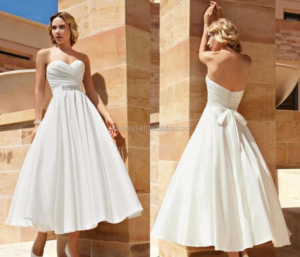 New beach wedding dresses 2015 cheap bridal gowns sash bow for Inexpensive beach wedding dresses