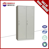 Office furniture grey 2 door metal locker / metal double door locker
