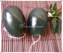 woman vaginal kegel exercise drilled xiuyan jade egg set natural dark green jade eggs