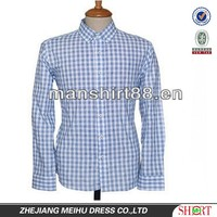 casual shirt button down collar checked slim fit long sleeves cotton blend shirt for men
