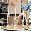 Wedding favors candle stand crystal candle holder