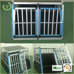 New design patented double door aluminum dog cage