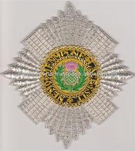 lingotes bordado insignia para la orden de cardo