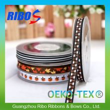 Factory Direct Price Polyester Decorative Wide Halloween Printed Ribbon